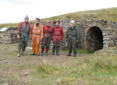 Delegates at the entrance of Smallcleugh Mine, 2015